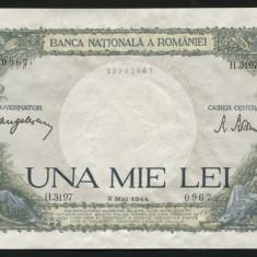 X909 ROMANIA 1000 LEI 2 MAI 1944 aUNC APROAPE NECIRCULATA - Bancnota romaneasca