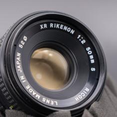 Obiectiv Ricoh Rikenon XR 50mm f2 montura Pentax K - Obiectiv DSLR Pentax, Standard, Manual focus