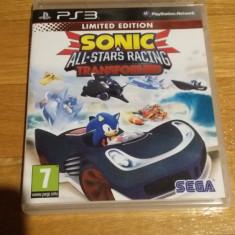 PS3 Sonic & All stars racing transformed - joc original by WADDER - Jocuri PS3 Sega, Curse auto-moto, 3+, Multiplayer
