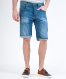 Blugi scurti Lee | Regular, 5 Pocket Short 30, Albastru, Lungi