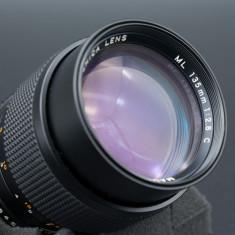Obiectiv manual portret Yashica ML 135mm 2.8 montura Sony E A7, A7II, A7S etc - Obiectiv mirrorless