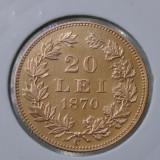 20 lei 1870 - AUR - Moneda Romania