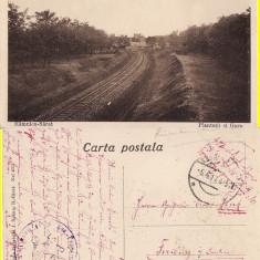 Ramnicu Sarat -Plantatiile si gara- militara, razboi, WK1, WWI- rara
