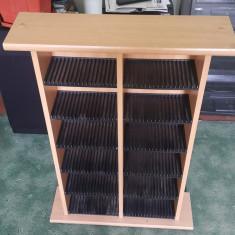 Suport cd-uri din lemn pt 204 buc. - Raft/Etajera