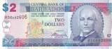 Bancnota Barbados 2 Dolari 2012 - P66c UNC