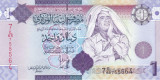Bancnota Libia 1 Dinar (2009) - P71 UNC ( al - Gaddafi - seria 7 )