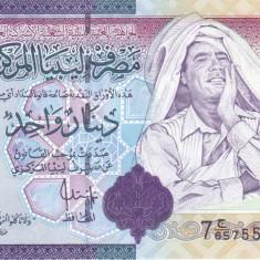 Bancnota Libia 1 Dinar (2009) - P71 UNC ( al - Gaddafi - seria 7 ) - bancnota africa