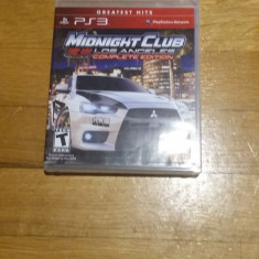 PS3 Midnight club Los Angeles complete edition Greatest hits - joc orig WADDER - Jocuri PS3 Rockstar Games, Curse auto-moto, 12+, Single player