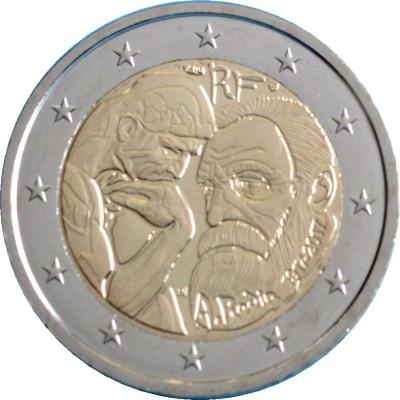 NOU - Franta moneda comemorativa 2 euro 2017 - Rodin - UNC foto