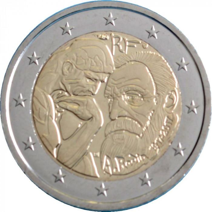 NOU - Franta moneda comemorativa 2 euro 2017 - Rodin - UNC foto mare