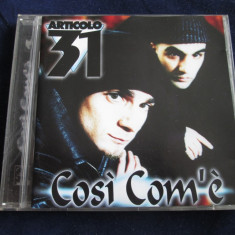 Articolo 31 - Cosi Com'e _ cd, album _ original BMG(Italia) _ hip hop - Muzica Hip Hop Altele