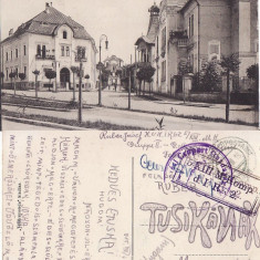 Targu Mures-cenzura WWI, WK1, rara - Carte Postala Transilvania 1904-1918, Circulata, Printata