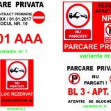 Placute parcare EXTERIOR personalizate format A4 si A3
