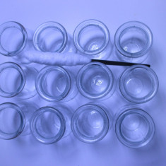 Un lot de 12 ventuze medicale antice sticla medicinale noi - Echipament cabinet stomatologic