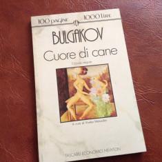 Carte in l. Italiana - Cuore di cane de Michail Bulgakov anul 1993 / 98 pagini ! - Carte in italiana