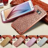 Husa silicon PREMIUM cu sclipici pentru Samsung Galaxy S6 / S6 edge, Alt model telefon Samsung, Auriu