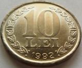 Moneda 10 LEI - ROMANIA, anul 1992 *cod 5004 XF + BAVURA