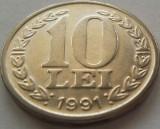 Moneda 10 LEI - ROMANIA, anul 1991 *cod 3636