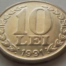 Moneda 10 LEI - ROMANIA, anul 1991 *cod 3636 - Moneda Romania