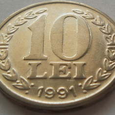 Moneda 10 LEI - ROMANIA, anul 1991 *cod 3636 - Moneda Romania