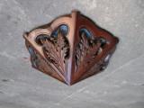 Aplica de perete veche de lemn sculptat, ornamente frumoase aplice antica 1 bec