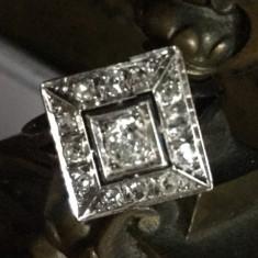 Inel diamante, Carataj aur: 18k, Culoare: Alb