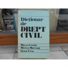 Dictionar de drept civil, Mircea Costin - Carte Drept civil