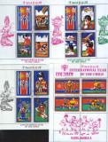 Korea de Nord - Ziua Internationala a Copilului 1979  - 4 Blocuri stampilate, Organizatii internationale, Stampilat