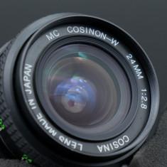 Obiectiv Cosina Cosinon MC 24mm 2.8 montura Pentax K - Obiectiv DSLR Pentax, Wide (grandangular), Manual focus