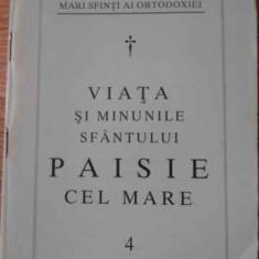 Viata Si Minunile Sfantului Paisie Cel Mare - Necunoscut, 396649 - Carti ortodoxe