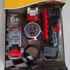 Ceas LEGO Racers Original Subacvatic Quartz + Figurina Masina Curse Nou Sigilat - Ceas copii