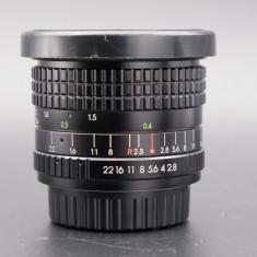Obiectiv Pallas Magenta AD 28mm f2.8 montura Pentax K - Obiectiv DSLR Pentax, Wide (grandangular), Manual focus