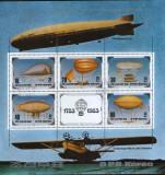 Korea de Nord - Dirijabile 1983 - 200 de ani de la primul zbor- Bloc stampilat