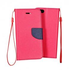 Husa HUAWEI P10 Lite Flip Case Inchidere Roz - Husa Telefon Huawei, Piele Ecologica, Cu clapeta, Toc