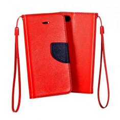 Husa Samsung Galaxy J7 2016 Flip Case Inchidere Magnetica Rosie - Husa Telefon Samsung, Rosu, Piele Ecologica, Cu clapeta, Toc