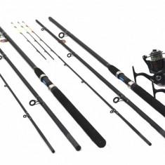 Set 2 Lansete Feeder 3.6m Cu 2 Mulinete FL Feeder Wind 10 Rulmenti - Set pescuit