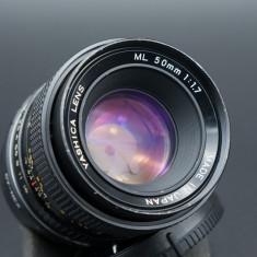Obiectiv Yashica ML 50mm 1.7 montura Sony E pentru seria Sony A7, alpha6000 etc - Obiectiv mirrorless