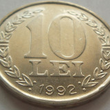 Moneda 10 LEI - ROMANIA, anul 1992 *cod 2623 xF - Moneda Romania