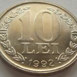 Moneda 10 LEI - ROMANIA, anul 1992 *cod 3471 a.UNC - Moneda Romania