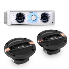 Auna MD-170-BT CAR-HIFI-SET, autoradio + difuzor pe 4 căi, MP3, USB, SD, BT - Pachete car audio auto