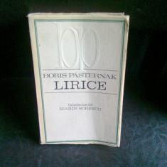 LIRICE - BORIS PASTERNAK - Carte poezie