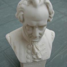 Bust GOTHE din portelan german producator HERTWIG - Sculptura, Europa