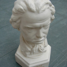 Bust LUDWIG VON BEETHOVEN din portelan german GOEBEL - Sculptura, Europa