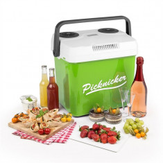KLARSTEIN Picknicker XL, cutie de răcire termo, 32L, A++, AC DC AUTO, verde - Geanta frigorifica