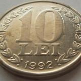 Moneda 10 LEI - ROMANIA, anul 1992 *cod 3380 - Moneda Romania