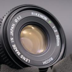 Obiectiv Ricoh Rikenon P 50mm f2 montura Pentax K - Obiectiv DSLR Pentax, Standard, Manual focus