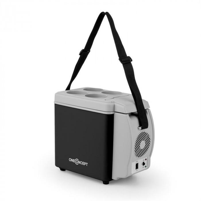 ONECONCEPT Roadtrip Mini Termo, cutie de racire, 6L, 12V, adaptor auto, negru foto mare