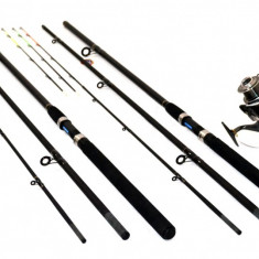 Kit 2 Lansete Feeder 3.9m Cu 2 Mulinete Long Cast Si Baitrunner - Set pescuit
