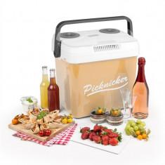 KLARSTEIN Picknicker XL, cutie de răcire termo, 32L, A++, AC DC AUTO, bej - Geanta frigorifica