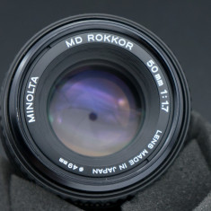 Obiectiv manual Minolta MD Rokkor 50mm 1.7 motura Sony E mirrorless - Obiectiv mirrorless